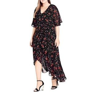 NWT City Chic Fall in Love Full Length Wrap Dress